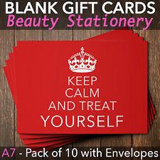 Beauty Salon Gift Voucher Template Blank Card Coupon Nail Massage x10+Envelopes