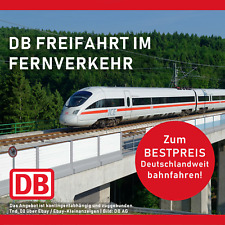 DB Bahn Fahrt Ticket Gutschein Freifahrt Deutschland Ecoupon wie Lidl + Freitag