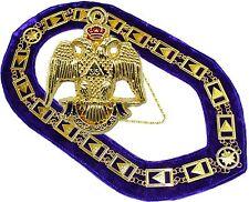 33RD Degree Masonic COLLAR Regalia SCOTTISH RITE Plus PENDANT