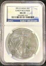 2012 SILVER EAGLES S$1 Early Release NGC Certified MS70(689320)