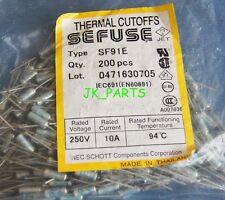 10pcs SF91E SEFUSE Cutoffs NEC Thermal Fuse 94°C Celsius Degree 10A 250V