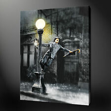SINGING IN THE RAIN CANVAS WALL ART PICTURES PRINTS 30 x 20 Inch FREE UK P&P