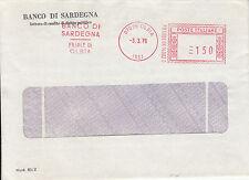 Banco di Sardegna Filiale di Olbia Busta Pubblicitaria con Annullo Meccanizzato