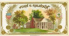 John c. Calhoun   cigar label