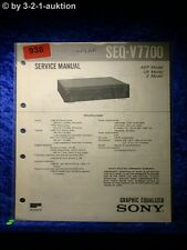 Sony Service Manual SEQ V7700 Graphic Equalizer  (#0938)