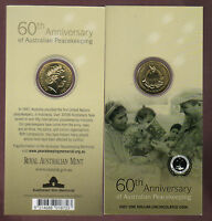 2007 Dollar  RAM $1 UNC Coin - 60th Anniversary of Australian Peacekeeping