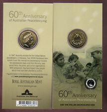 2007 RAM $1 UNC Coin - 60th Anniversary of Australian Peacekeeping