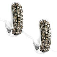 0 30ct 14k White Gold Diamond Huggie Earrings