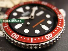 Red Bezel Insert  For 7S26  Submariner SCUBA SKX 007 009 Heritage Black Bay Look