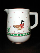 CHRISTMAS GOOSE/DUCK Holly Berries Milk Pitcher