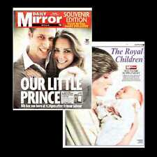 Dollshouse Miniature Newspaper - Daily Mirror 23 July 2013 Birth of Royal Baby