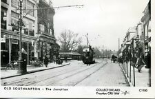Pamlin repro photo postcard C1100 Tram Southampton The Junction