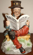 RACING FORM MAN READING NEWSPAPER FIGURINE STATUE