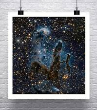 Pillars of Creation NASA Hubble Deep Space Image Rolled Canvas Giclee 24x24 in.