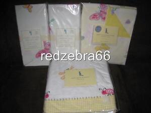 Pottery Barn Kids Happy Bugs Crib Organic Sheets Skirt Duvet Butterfly 4pc Girl