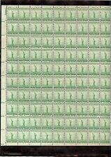 US MINT SHEET SCOTT#899,1C STAMP STATUE OF LIBERTY  SHEET OF 100 MNH OG BCV $19