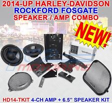 ROCKFORD FOSGATE HD14-TKIT FOR HARLEY DAVIDSON 6.5 SPEAKER AMP COMBO KIT 2014-UP