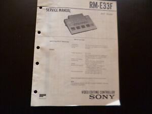 Original Service Manual Schaltplan Sony RM-E33F