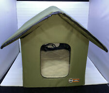 New listing Kh Outdoor Heated Cat House Weatherproof Insulated Pet Kitty Shelter Fast Ship