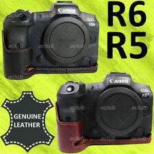 Canon EOS R5 R6 Genuine Leather Half Case Cover DN