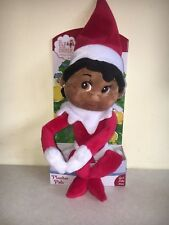 NEW GIRL The Elf on the Shelf Girl Plushee Pal - Dark skin brown eyes plush