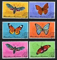 Butterflies & Moths set of 6 CTO stamps 1970 Togo #756-9, C139-40