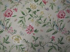 "SANDERSON CURTAIN FABRIC  ""Porcelain Garden"" 3.4 METRES RED & BEIGE CAVERLEY CL"