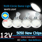 4 X 12V White 9 SMD LED Under Kitchen Cupboard Cabinet Round Light Super Bright