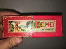 Vintage Hohner Echo Harmonica In Box
