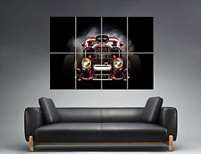 HOT ROD RED CAR Wall Art Poster Grand format A0