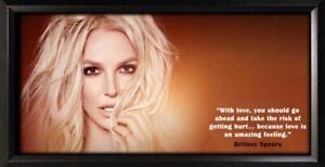 Britney Spears Framed Photo Motivational Poster