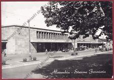 ALESSANDRIA CITTÀ 146 STAZIONE FERROVIARIA Cartolina viaggiata 1956