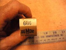 DUMONT 6AV6  VINTAGE Electronic TUBE NOS in Box