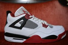 WORN ONCE Nike Air Jordan 4 Retro IV Fire Red Black Laser Cement OG White SZ 14