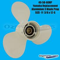11 3/8 x 12g For Yamaha Propeller Prop 40 50 60hp Engines 3 Blade Aluminium