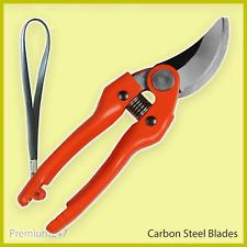 Bypass Pruning Shears Carbon Steel Garden Pruner Secateurs Cutter Plants Tool