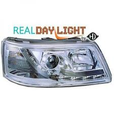 LHD Projector LED DRL Headlights Pair Clear Chrome For VW T5 Multivan 03-10