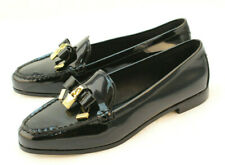 New MICHAEL KORS Alice Size 7.5 M Black Patent Leather Women's Loafers MSRP $165