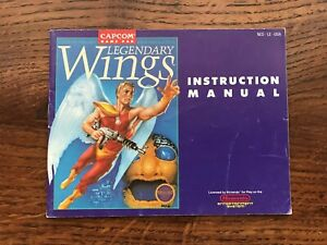 Legendary Wings NES Nintendo Instruction Manual Only
