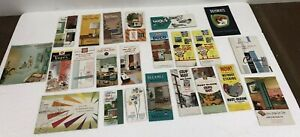 Vintage 50s 60s PAINT BROCHURE LOT color sample advertising mid century modern