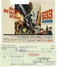 WALTER GRAUMAN  TV  FILM  PRODUCER DIRECTOR SIGNED BANK CHEQUE / CHECK 1977 RARE