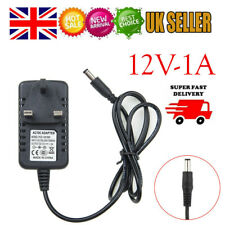 12V 1A DC UK 3 Pin Plug Power Supply Switching Adapter Transformer Universal