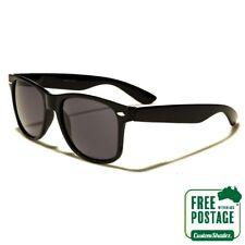 Classic Retro Sunglasses - Gloss Black Frame - Mens / Womens - Free Shipping Aus