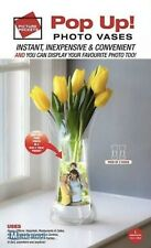 POP UP VASE Personalise Photo Picture Pocket Plastic 2PK Clear Flower Weddings