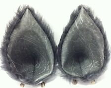 Handmade clip in grey ears for wolf rabbit cat mouse rat squirrel or owl cosplay