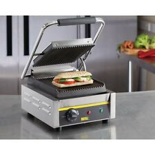 Buffalo CD474 Commercial Electric Single Panini Contact Grill @Next Day Delivery