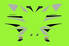 HONDA CB1000R STICKER KIT CUSTOM SILVER AND BLACK #228A