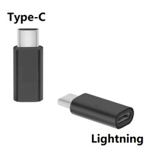 iPhone 8pin Lightning Female to USB-C 3.1 Type C Adapter Cable Converter Charger