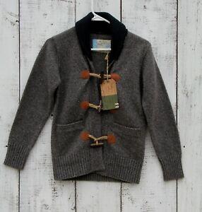 Jake Fischer Dudes Boys Gray Sweater Cardigan Wool Blend Size 11 / 152 NEW