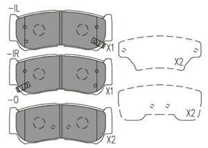 Disc Brake Pad Set-Premium Ceramic Pads Rear CFD1297 fits 07-09 Hyundai Santa Fe